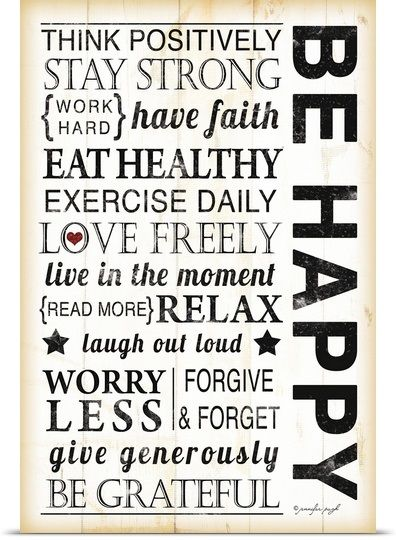 Be Happy, we deserve it
