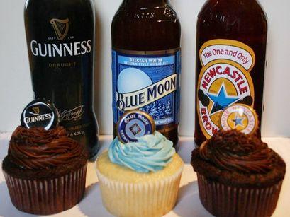 beer cupcakes: Tasting Parties, Beer Cupcakes, Art Beer, Beer Tasting, Beer Cakes, Blue Moon Cupcake, Cakes For Guys, Birthday Ideas For Boyfriends, Men Birthday