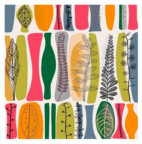 'Palm Prints ll' by Jane Galloway Design.