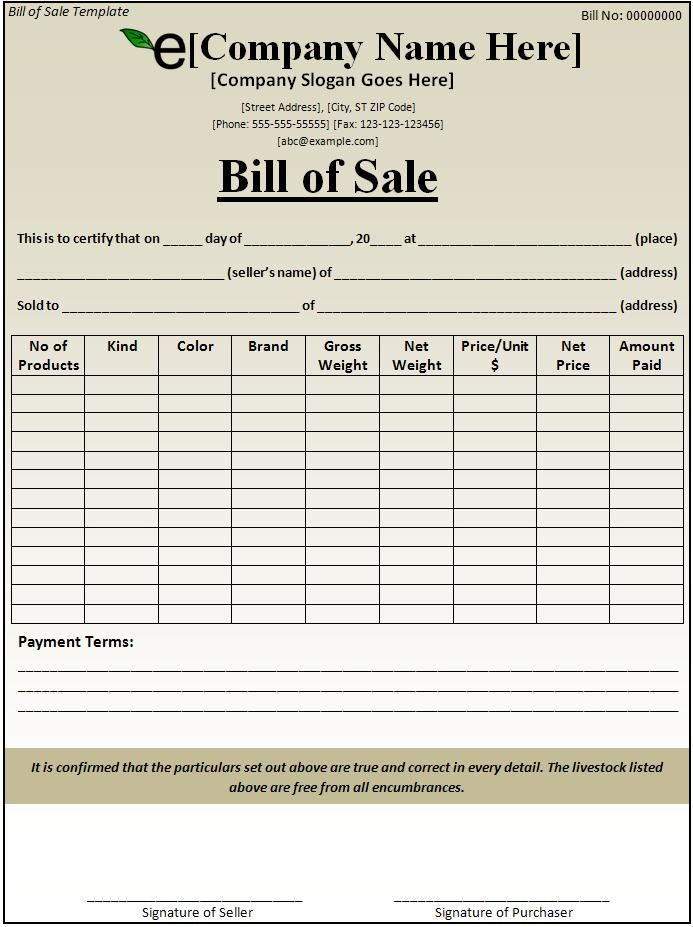 Microsoft Word Bill Sale Template Get my FREE video tutorial course here...