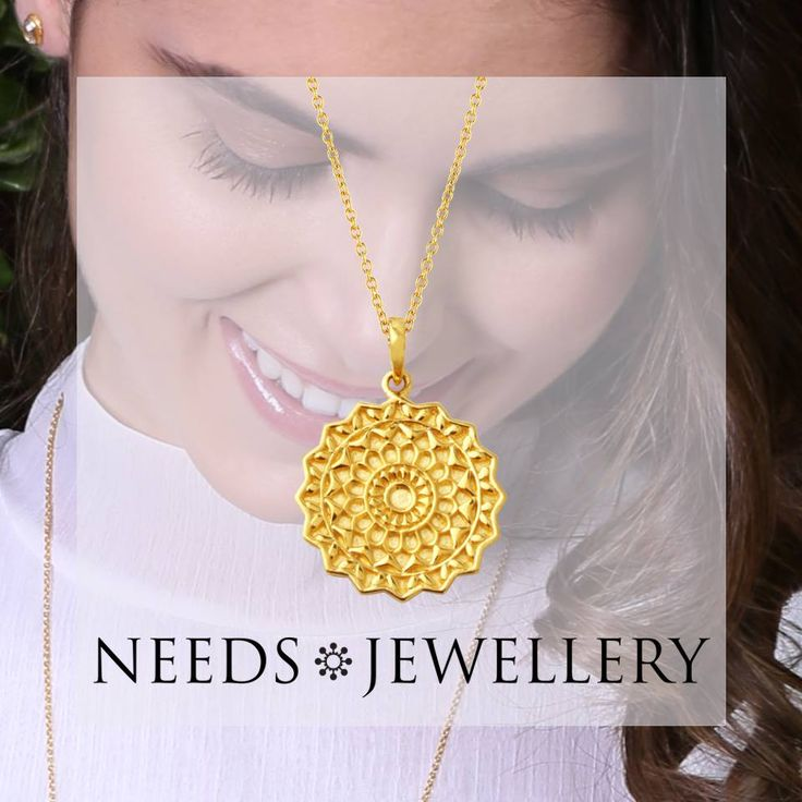 Give the student or ..... Give a personalized Mandala necklace that brings happiness on your way. #necklace # HALSKÆDER #pendant #fashion #goldplated #sterling #silver #needs #jewellery #NEEDSJEWELLERY