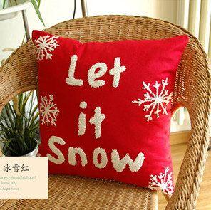 Christmas Pillow Case Cotton Linen X'mas Cushion Cover Snow Cushion Case Pillow Cover Home Decoration on Etsy, $19.99
