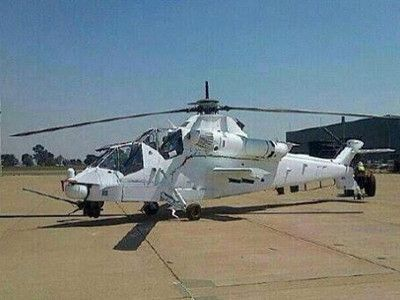 South African Denel AH-2 Rooivalk attack helicopter.