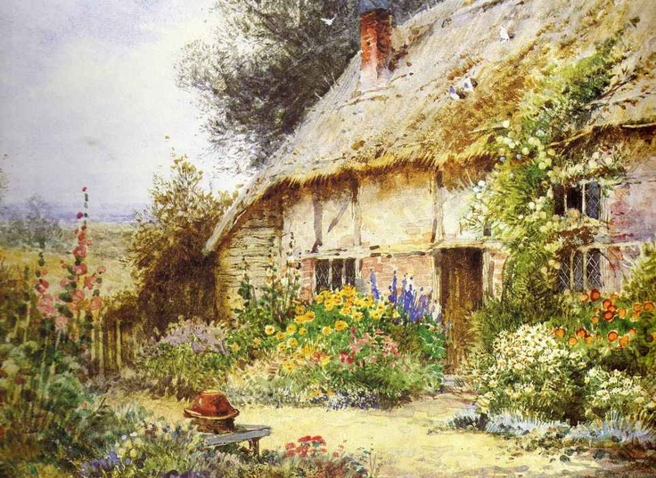 Print English Country Cottage