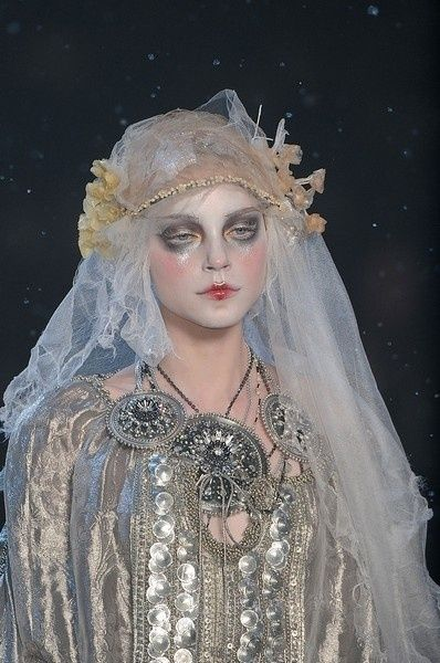 John Galliano fashion + Pat Mcgrath makeup design