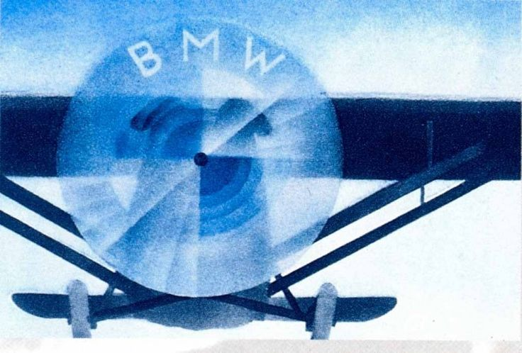 BMW (which stands for Bavarian Motor Works) was established in 1917 and began as an aircraft manufacturer. Previous stories mentions the BMW logo as being a nod to its aircraft-making roots, as it depicts an airplane propeller with white blades cutting through blue sky, but later BMW confirmed that the colors of the Bavarian flag were the inspiration for the roundel.