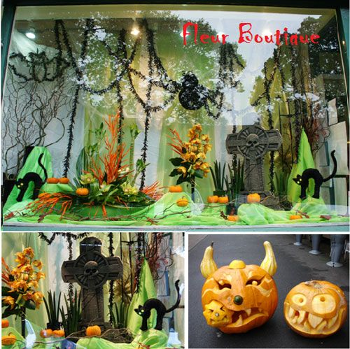 shop window display halloween - Halloween Display Ideas