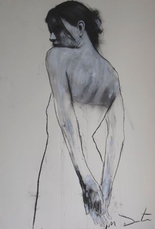 """Mark Demsteader-charcoal and graphite on lined paper -18"""" by 24"""". I love the strong line and the depth of the shadows"""