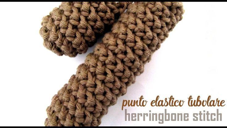 Punto elastico tubolare o Herringbone stitch o Punto a spina di pesce