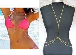 Boolavard ® TM Womens Sexy Fashion Gold Gehäuse Belly Bauchkette Bikini Beach Harness Halskette
