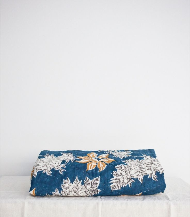 Couette indienne bleu indigo 220X240 cm
