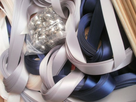 Bells DIY 150 satin ribbon wands  Wedding Wands