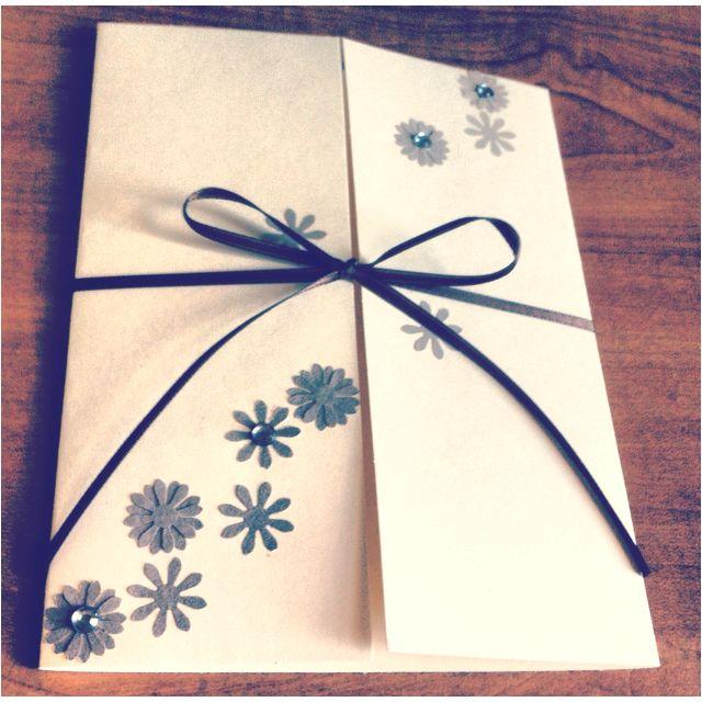 simple hand made wedding invitation