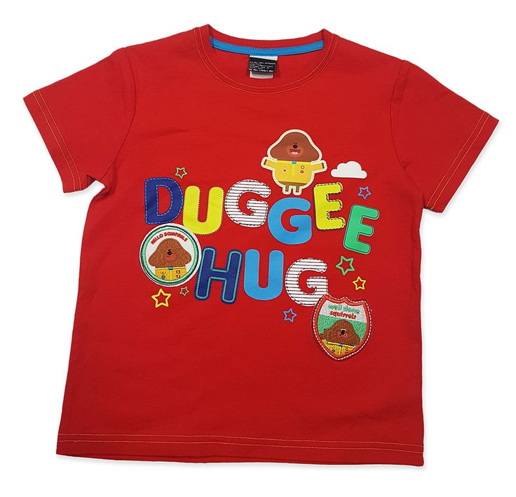 View product image in popup: Hey Duggee - Kids Red Duggee Hug T-Shirt [Size: 2]