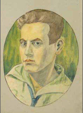 Karl Hübner / Карл Хюбнер (1902-1981) Румыния.Автопортрет 1925