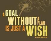 Inspirational Quote Canvas Art - A goal without a plan is just a wish - Antoine De Saint Exupery Antoine De, French Qu...
