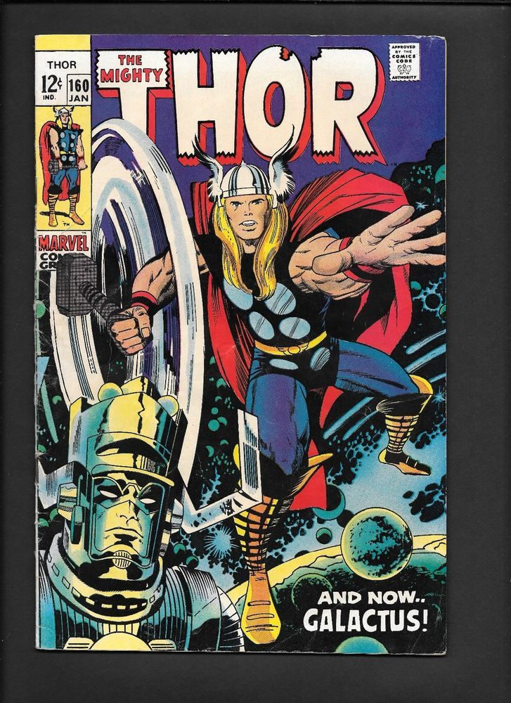 Mighty Thor 160 Origin Galactus Ego Odin Sif Silver Age Marvel Comic Kirby 1969