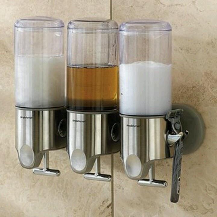 Shampoo dispenser bathroom ideas pinterest bottle shampoo dispenser and lol - Simplehuman shampoo soap dispensers ...