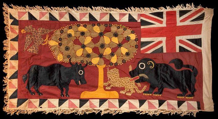 Drapeau Asafo, Fanti (Ghana), coton. Début XXe s. Collection Frederico Carmignani (Italie).