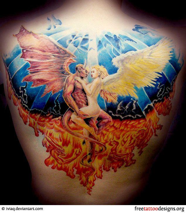 Tattoo Ideas Good Vs Evil: 25+ Best Ideas About Good And Evil Tattoos On Pinterest