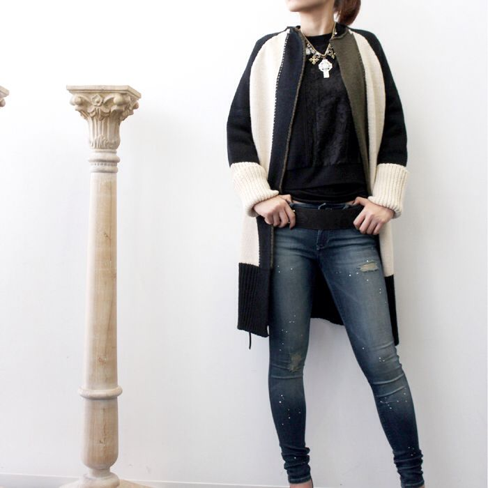 KNIT CARDIGAN ¥18,000+ tax