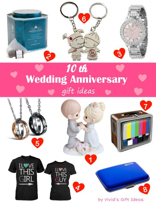 Traditional modern 10 year wedding anniversary gifts What are the traditional wedding anniversary gifts for each year