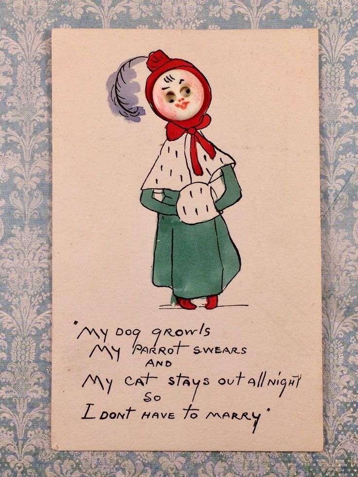 early 20th century c1910 hand created lady saying marriage