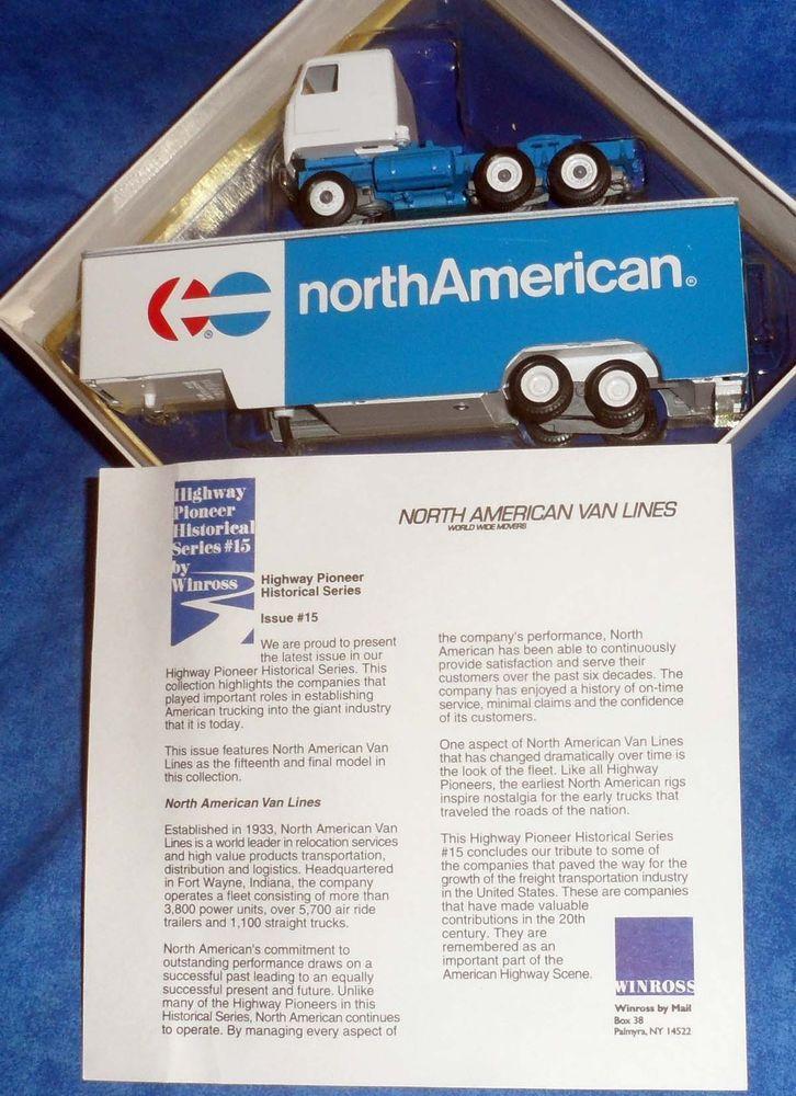 Winross NORTH AMERICAN VAN LINES Tractor Trailer Truck Diecast 1:64 Series 15 E2 #Winross