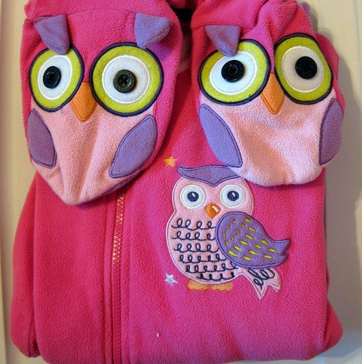 Nick & Nora Pink Owl Footed Pajamas M Womens Fleece PJs Sleep Lounge Jumpsuit #NickNora #Onesie
