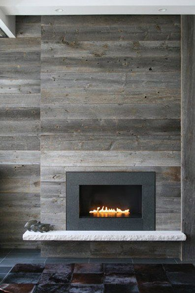 Creative #Fireplaces- A fireplace doesn't have to be boring and with a little #creativity it can become a work of art. This gorgeous built in modern fireplace is shockingly simple and beautiful.