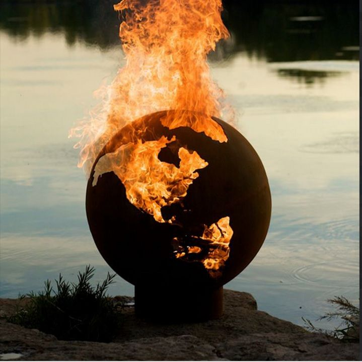 Earth Globe Fire Pit: Somedays you just want to set the world on fire, now you can! Get it HERE: http://www.thegiftsformen.com/earth-globe-fire-pit.php