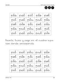 Resultado de imagen para palabras con la silaba pl