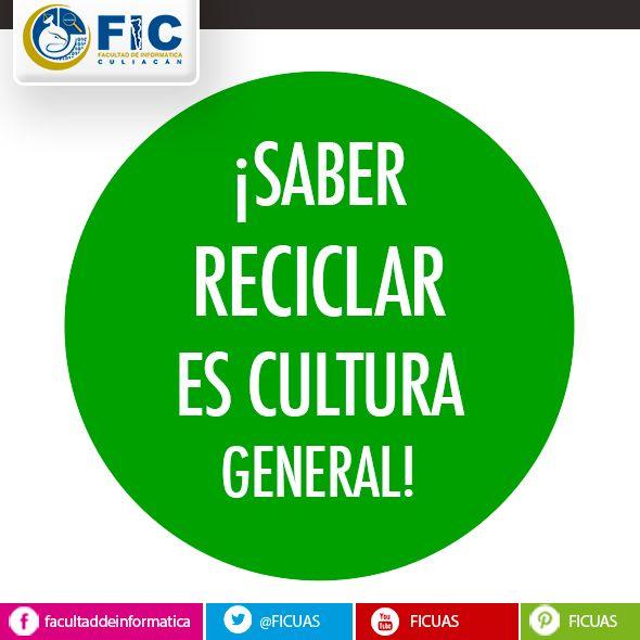 ¡SABER RECICLAR ES CULTURA GENERAL!