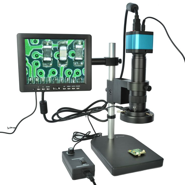 "Full Set 14MP Industrial Microscope Camera HDMI USB Outputs with 180X C-mount Lens +8"" HD LCD Monitor + 60 LED Light Microscopes //Price: $221.75//     #electonics"