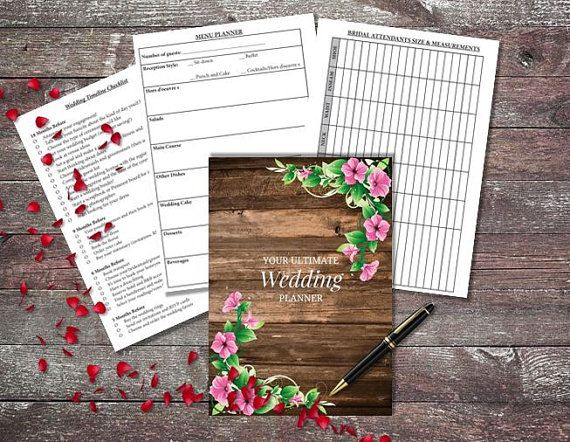 Printable Wedding Planner Binder Planning A Rustic: Best 25+ Wedding Organizer Ideas On Pinterest