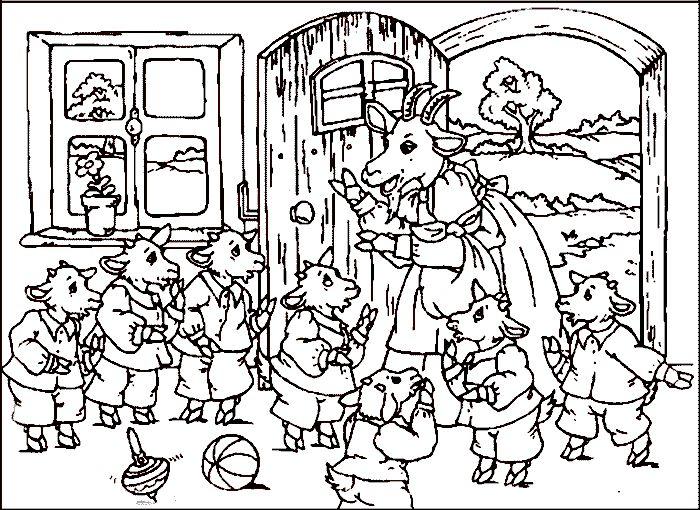 Maerchen Rumpelstilzchen 10 Der Wolf und die 7