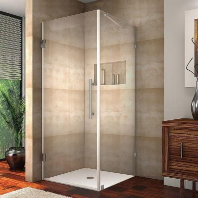 Aston Aquadica 30 in. x 72 in. Frameless Square Shower Enclosure in Chrome with Clear Glass-SEN988-CH-30-10 - The Home Depot