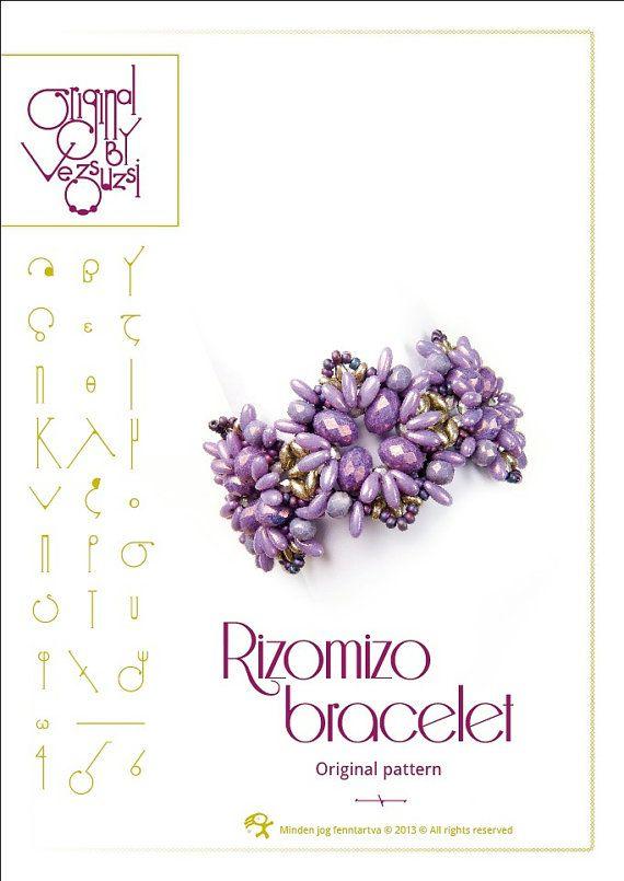 Bracelet tutorial / pattern Rizomizo with Rizo by beadsbyvezsuzsi