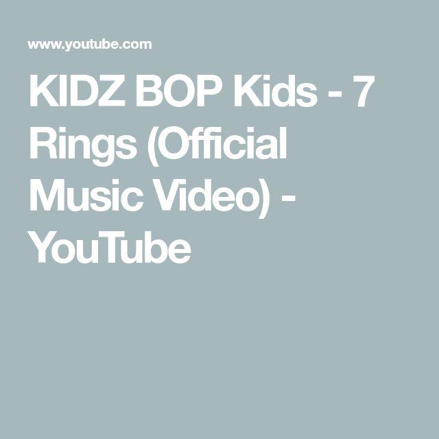 348044371 KIDZ BOP Kids - 7 Rings (Official Music Video) - YouTube | kidz bop kids KB  | Kidz bop, Music Videos și Music