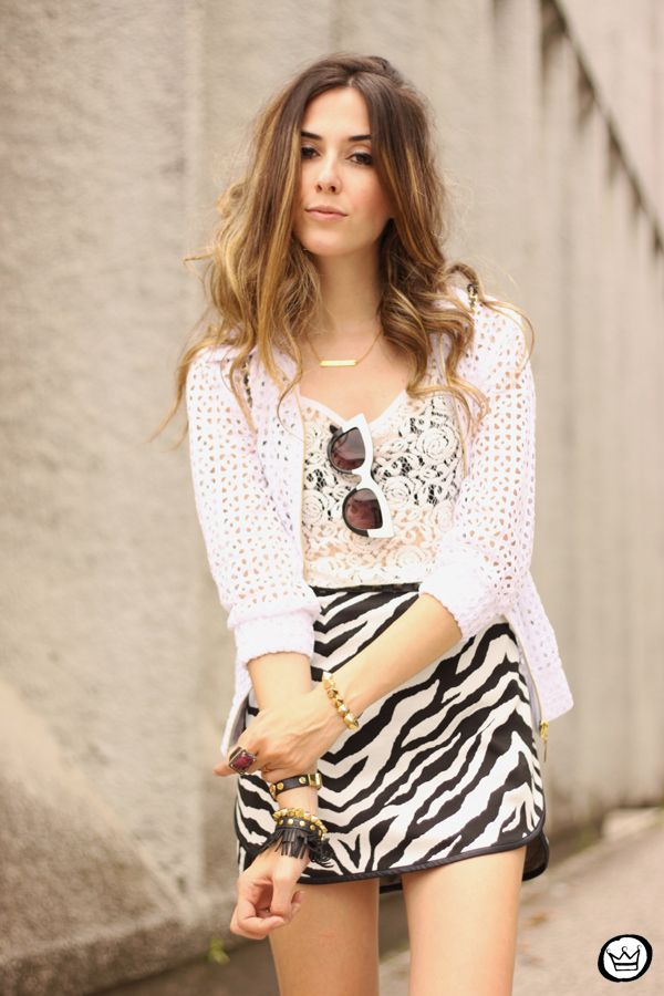black&white with a touch of animal print