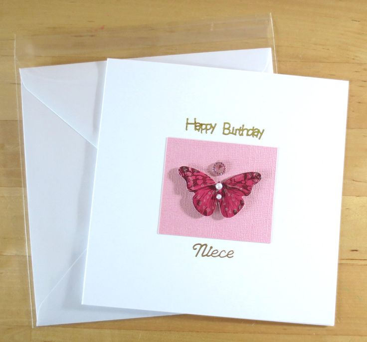 Handmade Birthday card, Butterfly card, daughter Birthday card, Niece birthday card, Birthday card for her, Greetings card handmade, niece by FyneHandmadeCards on Etsy