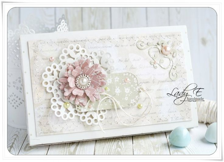 Beautiful floral box with tag by Emilia made using First Edition dies and First Edition Botanical Notes paper pad