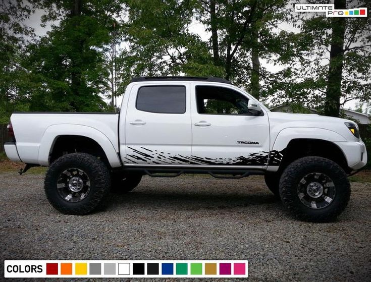 Decal Sticker Side Door Mud Splash for Toyota Bed