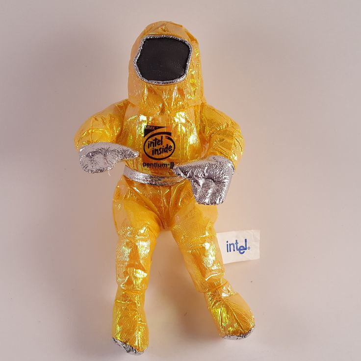 "Intel Pentium II MMX The Bunny People 8"" Yellow Character Plush - FREE SHIPPING! #Intel"