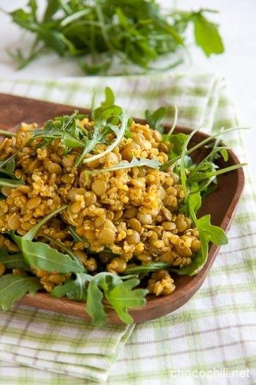 Linssi-quinoasalaatti