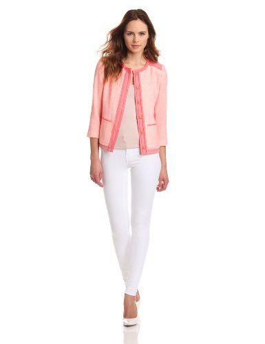 ELIE TAHARI Women's Pearson Jacket, Peach Glow, 0 ELIE TAHARI,http://www.amazon.com/dp/B00BK3S8UK/ref=cm_sw_r_pi_dp_Zc42sb1E1M8B2P96