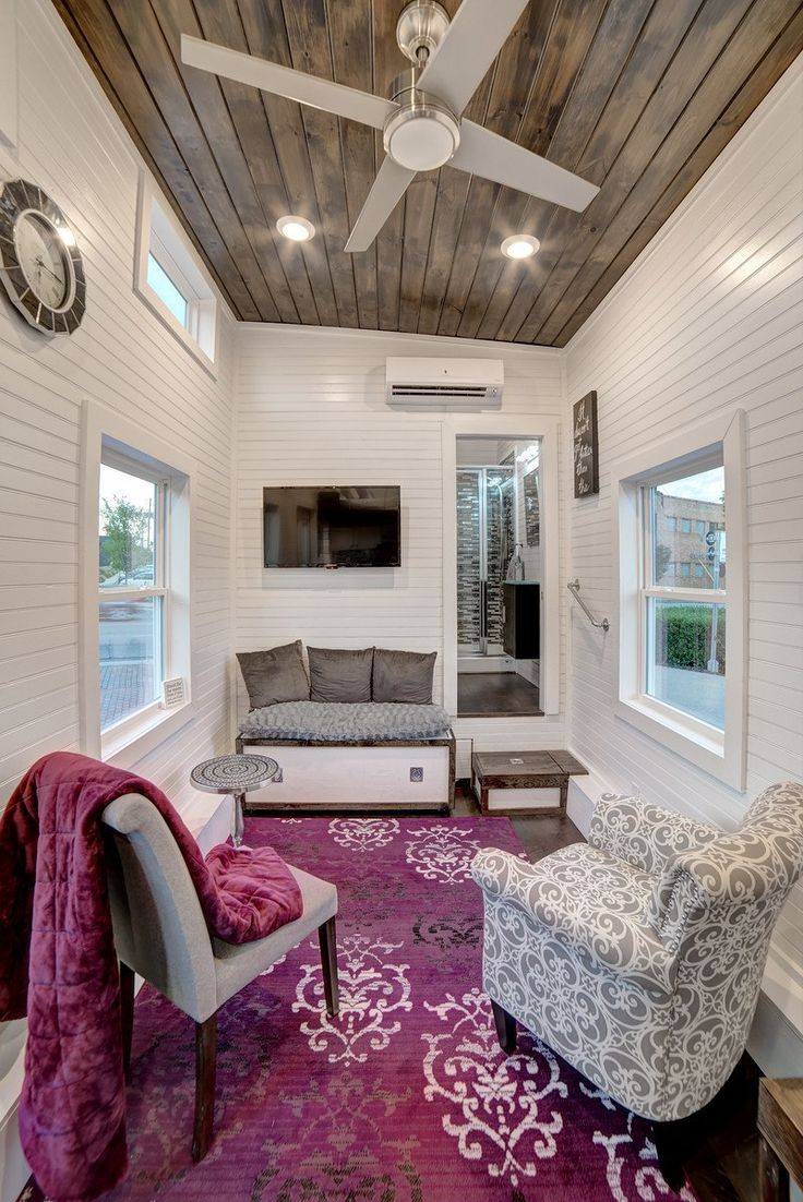Tiny houses on wheels for sale in alabama - This Is The Freedom Tiny House On Wheels By Alabama Tiny Homes Modern Cabin On Wheels Would You Live Tiny Here