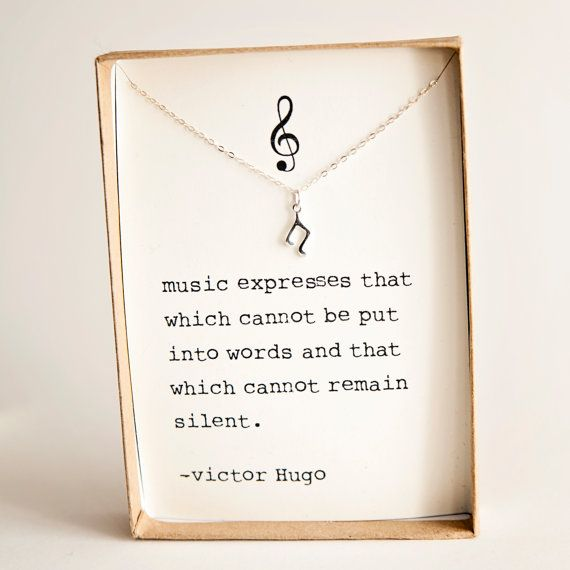 Sterling silver Tiny Music Note dainty by lilshopofcutethings