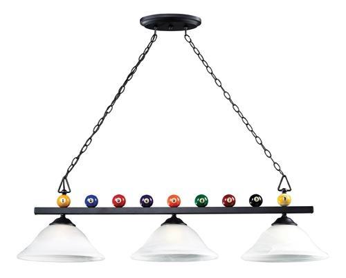 Three Light Black Pool Table Light | Williams Lighting Galleries  sc 1 st  Pinterest & 26 best Billiards images on Pinterest | Pool tables Pool table ... azcodes.com
