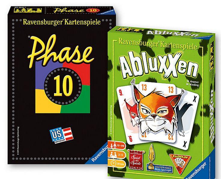 2 Ravensburger Spiele im Doppelpack zum Superpreis! Phase 10 + Abluxxen bei weltbild.de #ravensburger #spiele #kinder #weltbild